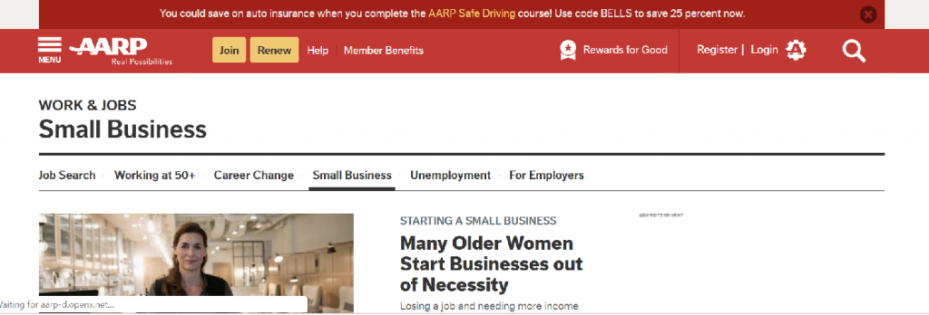 AARP Small Business Center